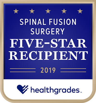 Healthgrades Spinal Fusion Award 2019
